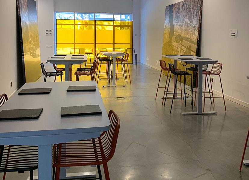 salas para eventos innovadores en Poblenou sala tech valkiria Hub